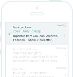 """YSK Unroll.me is a free service that rids your email in box of spam - so you don't have to hit the dreaded """"unscribe"""" button which invites more spam"""