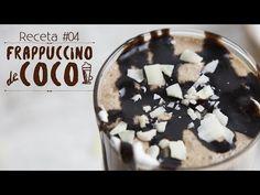 Receta para elaborar un delicioso, cremoso y refrescante Frappuccino de Coco con cubitos de Crema de Coco que encontrarás en www.chiliandcoco.com
