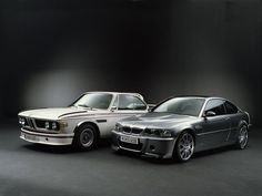 BMW 3.0 CSL and M3 CSL.