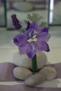 Purple Delphinium and Lavender