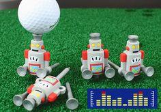robot golf tee