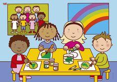 Knutselen Preschool Learning, Manners, Clipart, Nursery Decor, Projects To Try, Classroom, Cartoon, Comics, Illustration