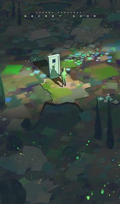 """Secret Door"" by Andrea Koroveshi Fantasy Landscape, Fantasy Art, Illustrations, Illustration Art, Fantasy Places, Wow Art, Environment Design, Aesthetic Art, Cool Artwork"
