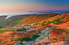 acadia national park   Maine, Acadia National Park, Coastline , Cadillac mountain, Fall ...