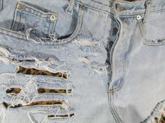 Vintage 90s Upcycled Guess? High Waist Jean Shorts by SpeckledRed, $38.00
