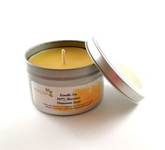 100% Beeswax Candle Tin - Cinnamon Scent