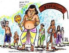 #NewsGram's take on #FTII row.  Cartoon by Angela Ferrao. #Mahabharata #AGameOfDice