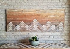 Reclaimed Wood Queen Headboard or Wall Art by EleventyOneStudio