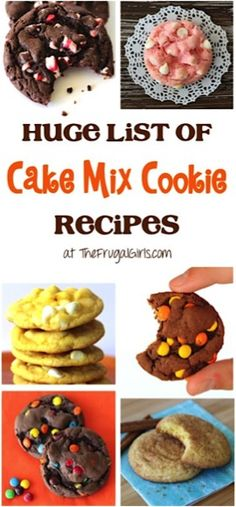 Personalized Graduation Gifts - Ideas To Pick Low Cost Graduation Offers Huge List Of Cake Mix Cookie Recipes From You'll Love This List Of Every Flavor Combination Of Cookies Imaginable - So Easy And Just A Few Ingredients Cake Box Cookies, Chocolate Cake Mix Cookies, Cake Mix Cookie Recipes, Yummy Cookies, Rolo Cookies, Cake Batter Cookies, Boxed Cake Mixes, Box Cake, Cake Recipes
