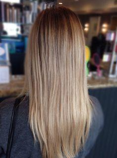 Blonde hair / Highlights / Balayage / Haircolor / Dimensional Haircolor / Brown hair Blonde highlights / Ombré / Dark hair with highlights / Sombre / Sunkissed hair / Loose curls / 2015 Hair / Long Layers / Straight hair / HairbyLaurenNicole