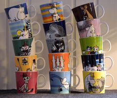Muumimukit - Moomin mugs. Collecting these is sort of a must in Finland.