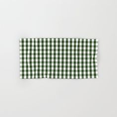 Dark Forest Green and White Gingham Check Hand & Bath Towel by podartist Dark Forest, Gingham Check, Bathroom Towels, Hand Towels, Just For You, White Cotton, Green, Bathrooms, Patterns