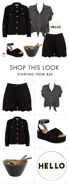 """""""s k y"""" by skyl19 ❤ liked on Polyvore featuring Boohoo, Evil Twin, River Island, Topshop and Lisa Perry"""