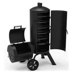 Dyna-Glo Heavy-Duty Vertical Offset Charcoal Smoker and Grill at Lowe's. Get the best of both worlds with the Signature Series heavy-duty vertical offset charcoal smoker and grill from Dyna-Glo. This multi-functional smoker