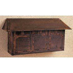 """Dimensions: 18""""W x 9""""H x 5""""D Mission Brown Mail Box Horizontal Wall Mounted Mailboxes Outdoor"""