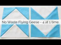 How to Sew No Waste Flying Geese - no specialty ruler - YouTube