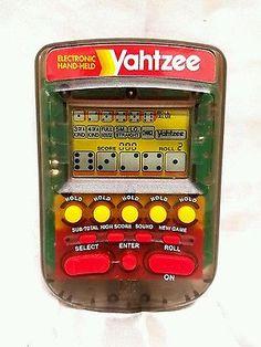 Yahtzee Electronic Handheld Game| Milton Bradley 1995 | With Batteries! Great!