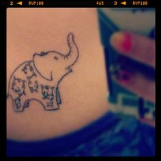 New tattoo: small and simple elephant