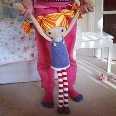 Como hacer muñecas de trapo patas largas, con detalles lindos