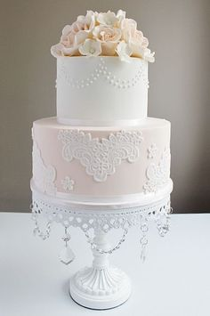 wedding cake gallery || Chandelier Cake stand created by Opulent Treasures