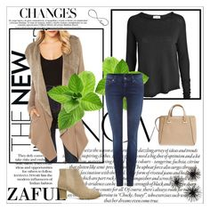 """""""http://www.zaful.com/shawl-collar-fleece-lining-irregular-coat-p_98876.html?lkid=2989    http://www.zaful.com/elastic-suede-solid-color-ankle-boots-p_92101.html?lkid=2989"""" by goldenhour ❤ liked on Polyvore featuring American Vintage, 7 For All Mankind and Jimmy Choo"""