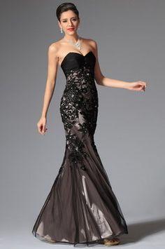 eDressit 2014 New Black Lace Stylish Sweetheart Evening Dress Prom Dress (02147500)