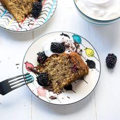 GF Blackberry Banana Cake with Whip