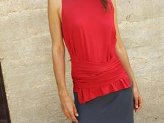Sleeveless top  Woman warrior tank top/wrap by SHIHAR on Etsy, $80.00