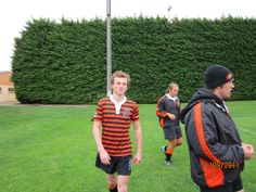 My son Tom running on for Oregon State University rugby team, Clifton, Taranaki, 2011