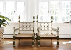 Francesca Amfitheatrof's husband gave hersome Tony Duquette chairs
