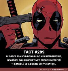 Classic Deadpool I feel ya Wade. It sucks that I can't do it, too. Deadpool Facts, Deadpool Funny, Deadpool And Spiderman, Marvel Facts, Funny Marvel Memes, Dc Memes, Marvel Jokes, Avengers Memes, Funny Comics