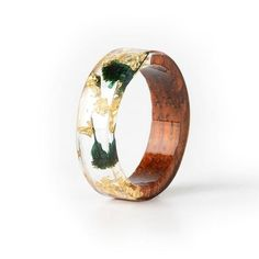 Resin Ring, Resin Jewelry, Jewelry Rings, Gold Foil Paper, Flower Band, Wood Resin, Wood Rings, Types Of Rings, Anniversary Rings