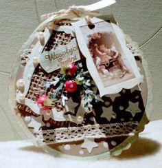 Moja pasja: Kartka w kształcie bombki