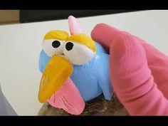 DIY || Vogel aus KNETBETON | Deko | Figur aus Beton | how to do - YouTube