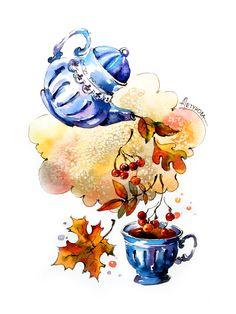 Art Drawings Sketches, Cute Drawings, Watercolor Sketch, Watercolor Paintings, Botanical Illustration, Illustration Art, Dance Paintings, Halloween Drawings, Autumn Art