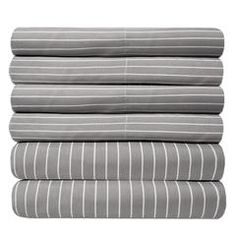 Shop for 6 Piece Loft Collection Modern Classic Pinstripe Bed Sheet Sets. Get free delivery On EVERYTHING* Overstock - Your Online Bedding Basics Store! Flat Sheets, Bed Sheets, Sweet Home Collection, Queen Sheets, Bedding Basics, King Sheet Sets, Cotton Sheet Sets, Modern Classic