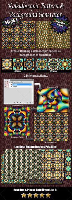 Kaleidoscope Pattern & Background Generator