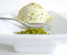 Honey Yoghurt Pistachio Ice Cream  Required time: preparation 5 min., chilling/ice cream machine: ~25min    .    Ingredients (serves 2-4):    400g greek yoghurt    50g ground /chopped (unsalted) pistachios    5 tbsp honey (or to your liking)