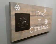 Days till Christmas Countdown Rustic Sign by LennyandJennyDesigns