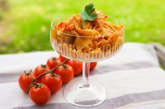 Mediterraner Nudelsalat – vegan, fettarm & ohne Soja