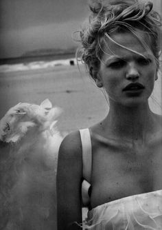 Daphne Groeneveld / Photo by Peter Lindbergh Be featured in Model Citizen App, Magazine and Blog. www.modelcitizenapp.com