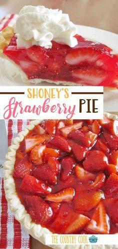 Shoneys Strawberry Pie, Fresh Strawberry Pie Recipe With Jello, Recipe For Shoney's Strawberry Pie, Stawberry Pie, Recipes With Strawberries, Frozen Strawberry Desserts, Köstliche Desserts, Delicious Desserts, Indian Desserts