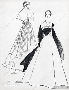 Pierre Simon 1949 Grès & Balenciaga, Evening Gown