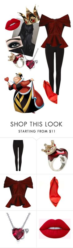 """""""Princess of Hearts, Daughter of the Queen of Hearts, Casual"""" by ashy0102 on Polyvore featuring Disney, Emilio De La Morena, Bling Jewelry, Max Factor and aliceinwonderland"""