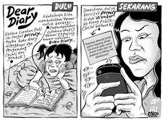 Mice Cartoon, Kompas 18 Agustus 2013: Dear Diary...