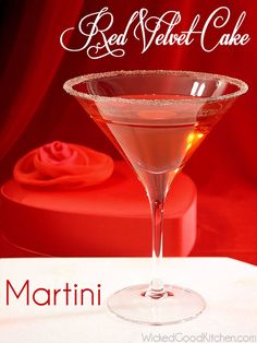 Red Velvet Cake Martini Ice for cocktail shaker 1½ ounces Faretti Biscotti Famosi Liqueur di Italia (or Frangelico® Hazelnut Liqueur) 1 ounces Marie Brizard® White Cacao Liqueur (Crème de Cacao) 1 ounce SKYY® Vodka 1 ounce Grand Marnier® Natural Cherry Liqueur 1½ teaspoons grenadine syrup, such as Rose's®, optional - See more at: http://wickedgoodkitchen.com
