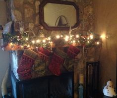 First Christmas with new Mantel...oh the possibilities!