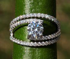 GALAXY - Diamond Engagement Ring - weddings - brides - Luxury -Swirly - unique - twist - Abstract - 14K - Bp034 on Etsy, $4,500.00