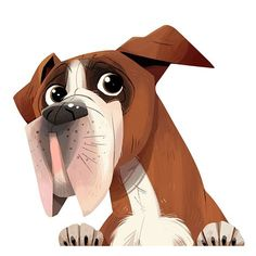 Chew Toys at Labrador Able. I Love Dogs, Cute Dogs, Animals Beautiful, Cute Animals, Boxer Puppies, Dog Car, Dog Illustration, Cartoon Dog, Animal Rescue