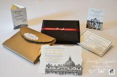 I have never seen wedding invitations this beautiful. Christine and Jonathon's wedding in Rome. www.weddingsinrome.com